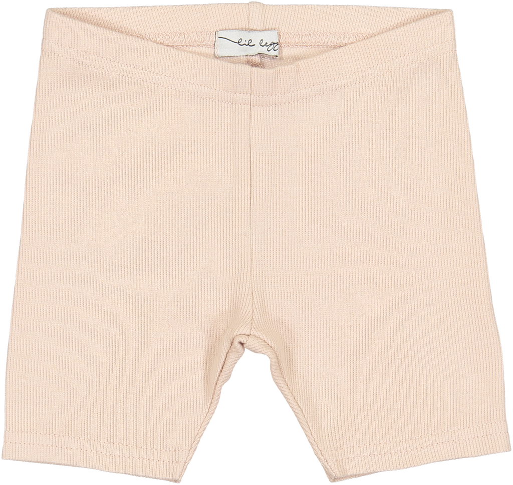 Lil Leggs Nude Pink Ribbed Shorts