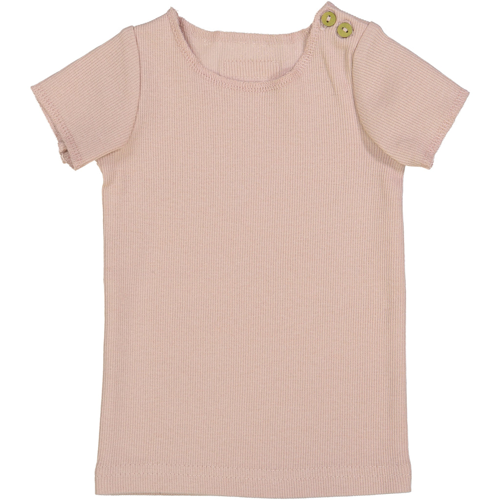 Lil Leggs Nude Pink Ribbed Tee