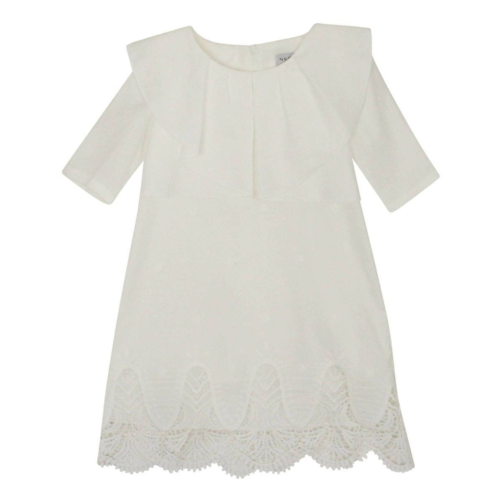 Nueces White Linen Cosmo Dress