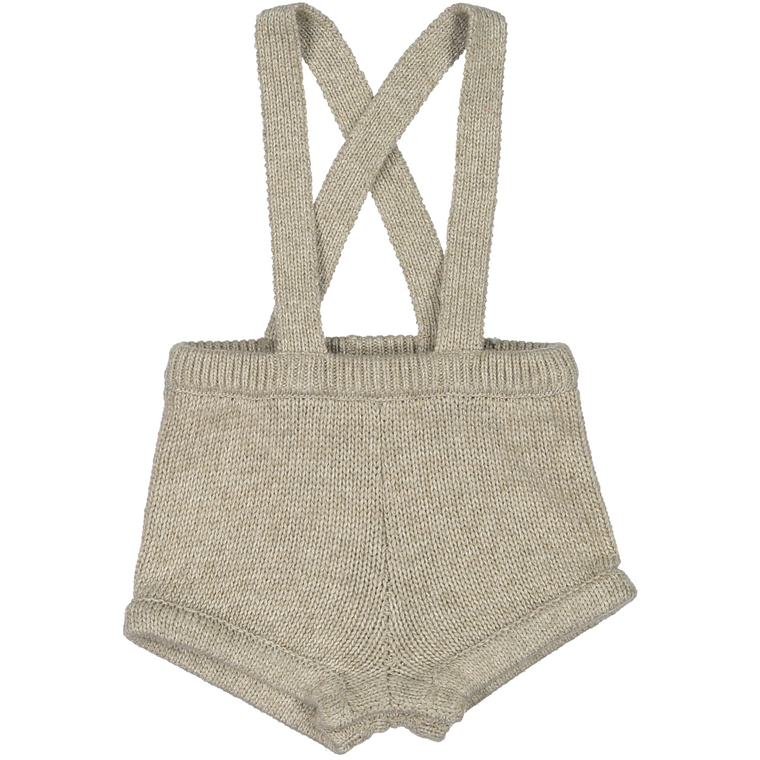 Coco Blanc Oatmeal Knit Overall Romper