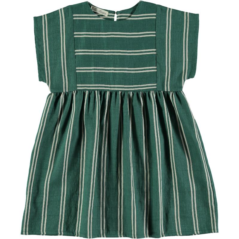 Belle Chiara Green Striped Beach Dress