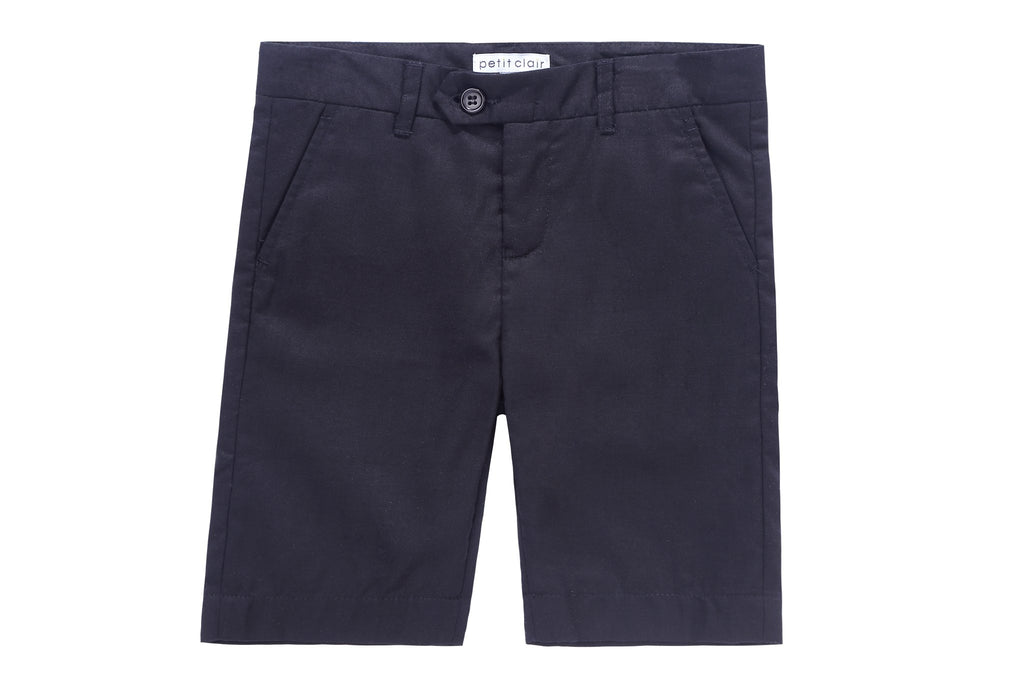 Petit Clair Black Linen-Like Shorts
