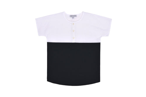 edea6ba9b Petit Clair Black/White Mandarin Shirt