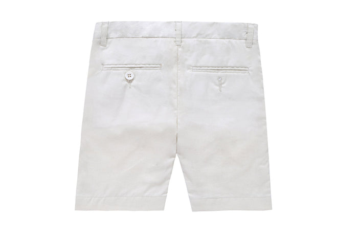 Petit Clair Cream Linen-Like Shorts