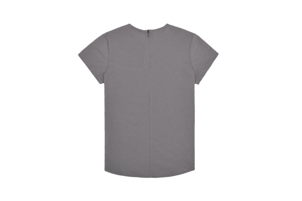Petit Clair Grey Solid V-neck Shirt