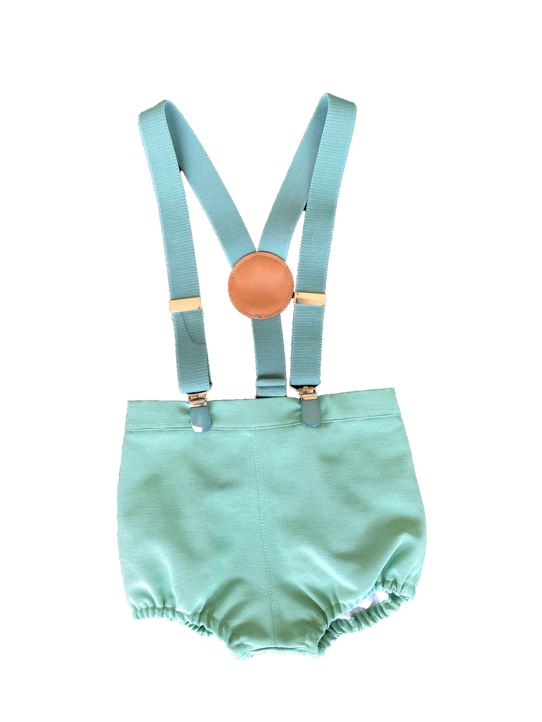 Pilar Batanero Green Suspender Bloomer
