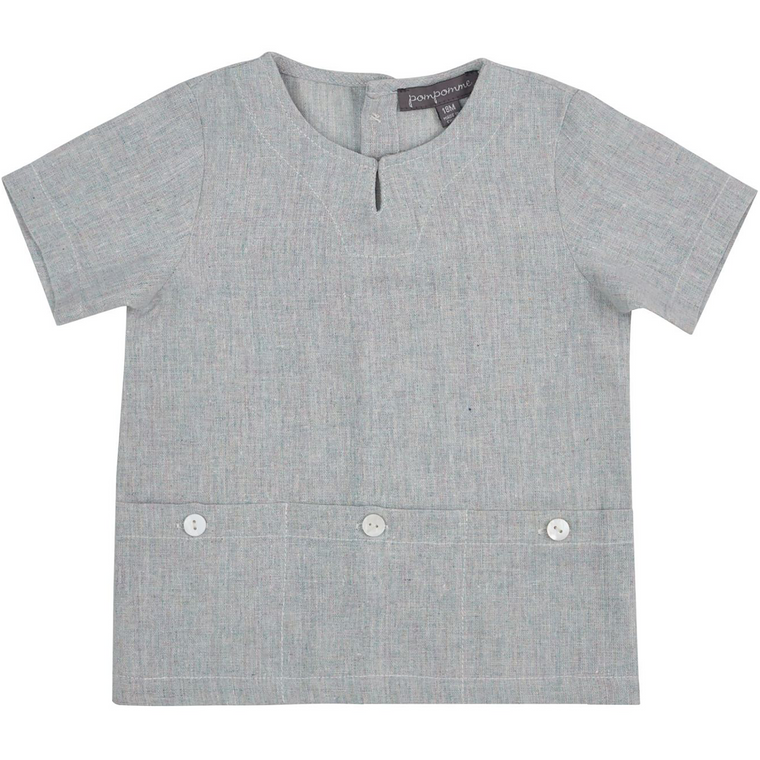 Pompomme Light Mint Bottom Pocket Shirt