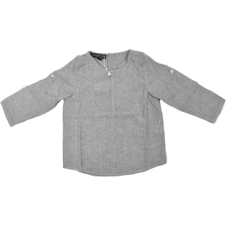 Pompomme Black/White Shimmer Shirt