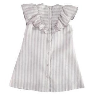 Carbon Soldier Grey/White Eagle Stripe Dress