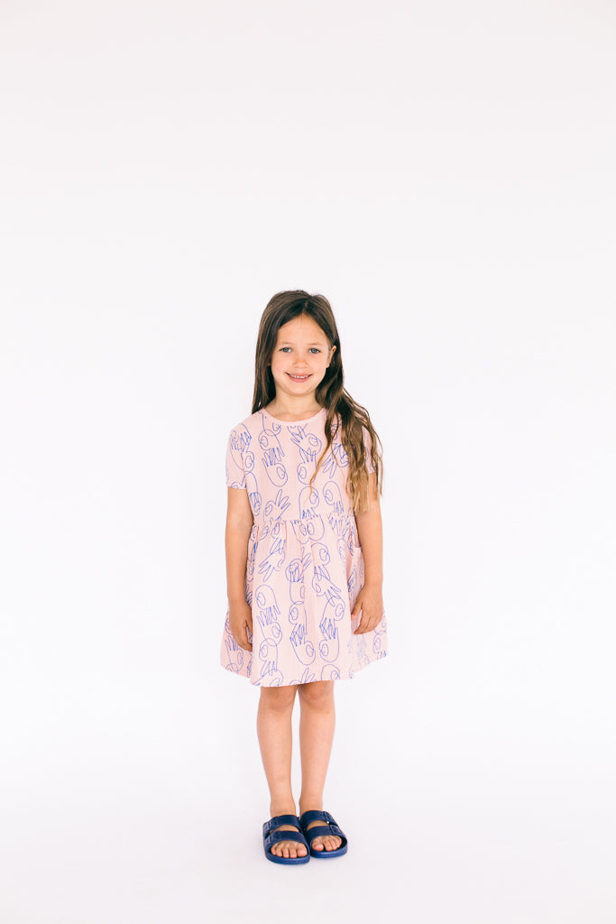 Picnik Pink Handfaces Chloe Dress