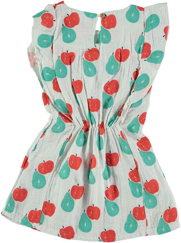 Picnik White Apples & Pears Waisted Lola Dress