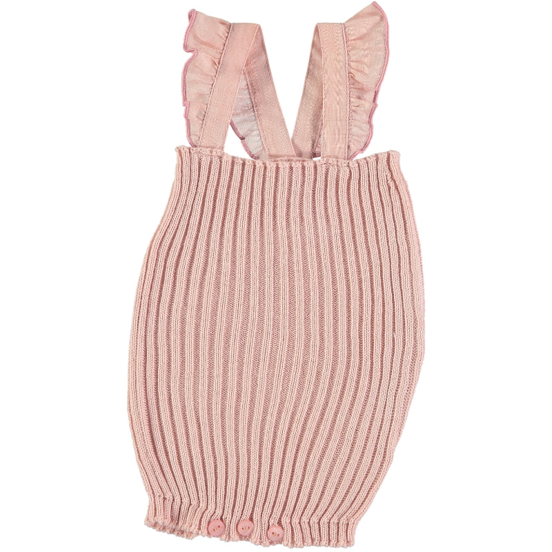 Violeta E Federico Cot Pink Knitted Candy Romper