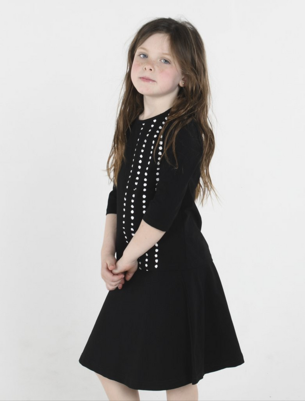 Three Bows Black Camp Skirt