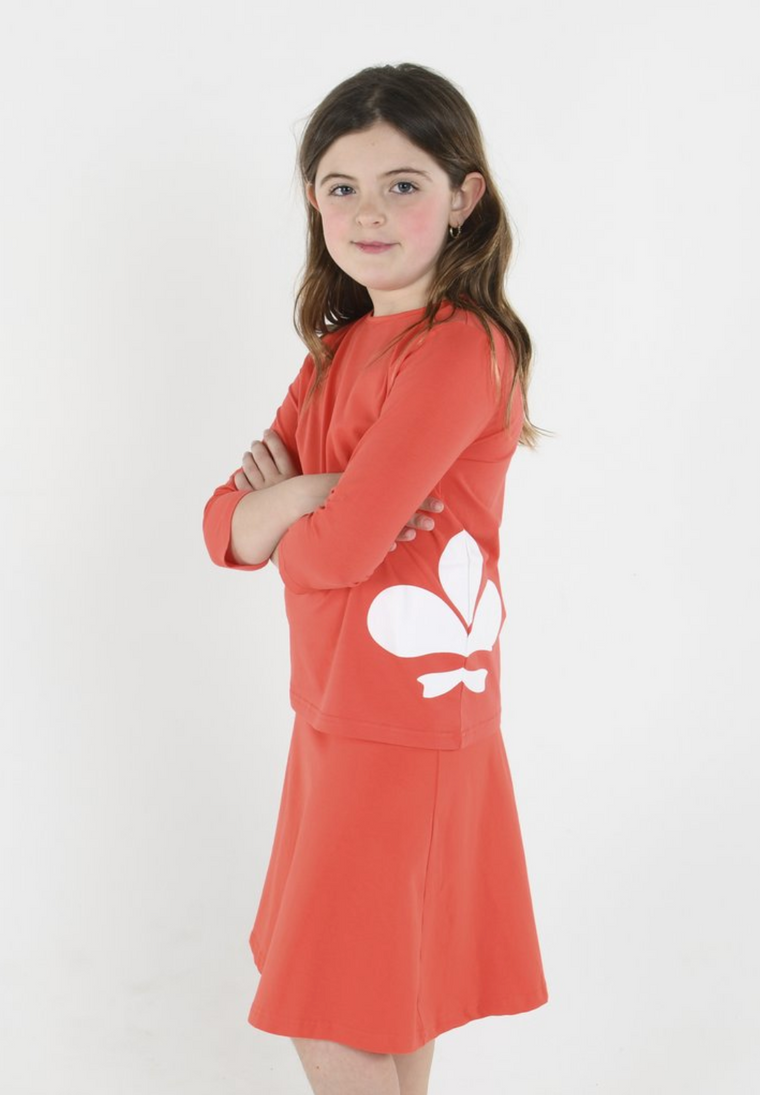 Three Bows Ruby Red Camp Skirt
