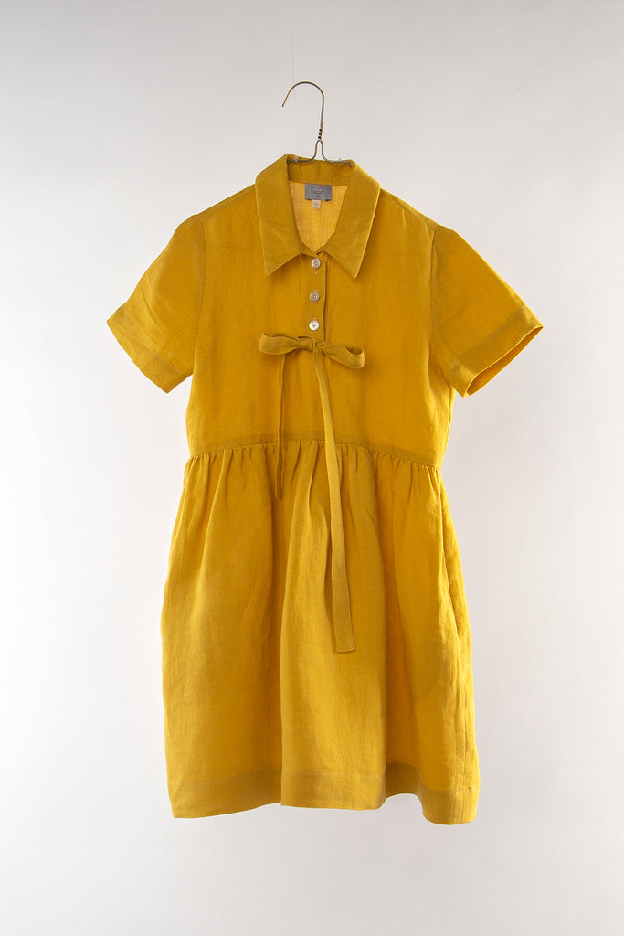 Hilda Henri Mustard Shirt Dress