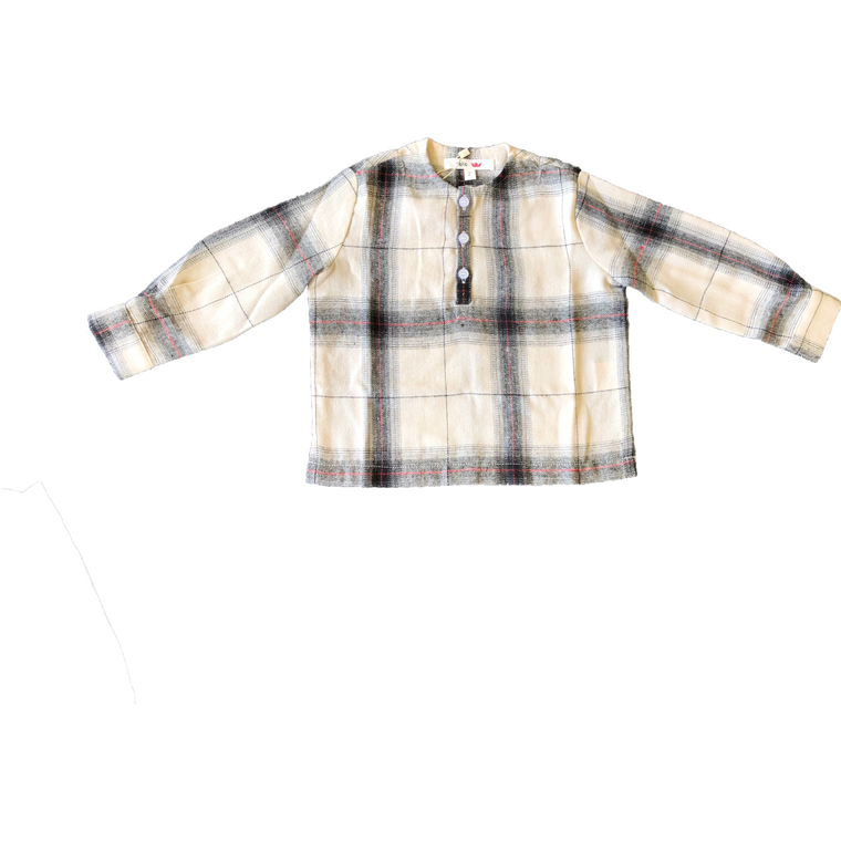 Soho Cream Flannel Checkered Shirt
