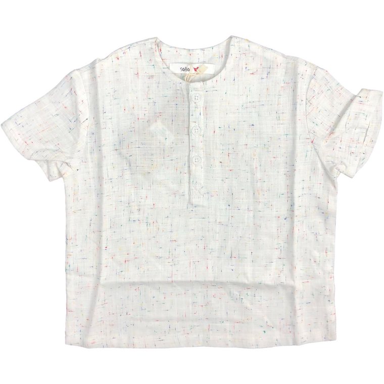 Soho White Colored Speckled Shirt