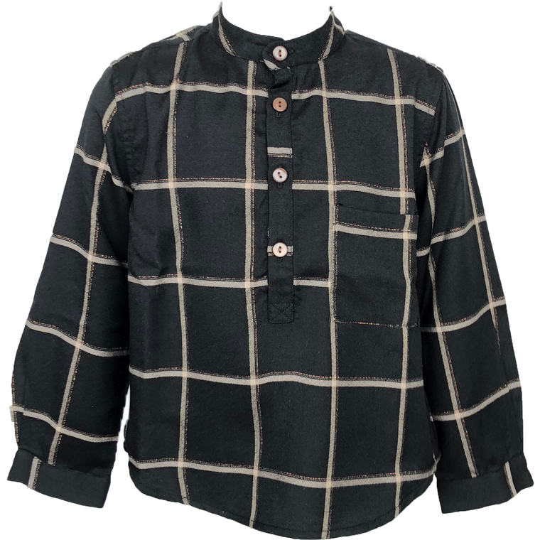 Tarantela Black Square Check Shirt