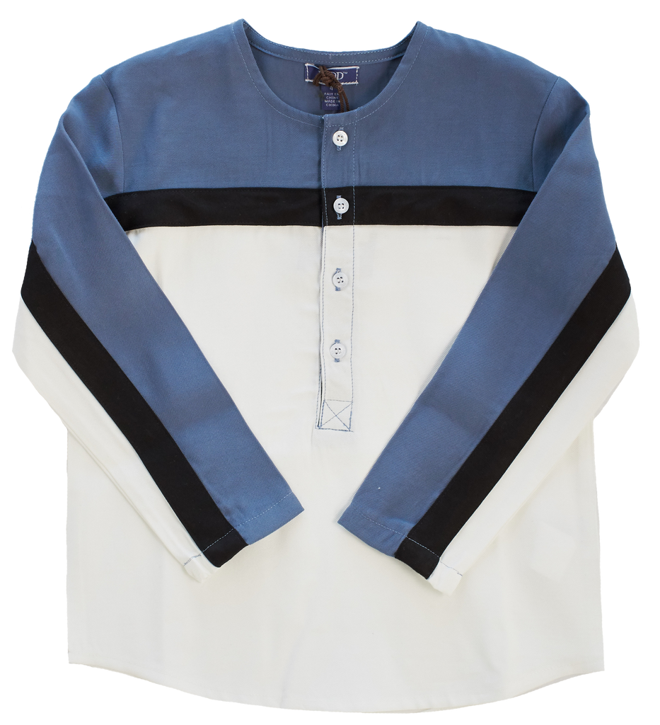 Little Cocoon Blue Colorblock Shirt