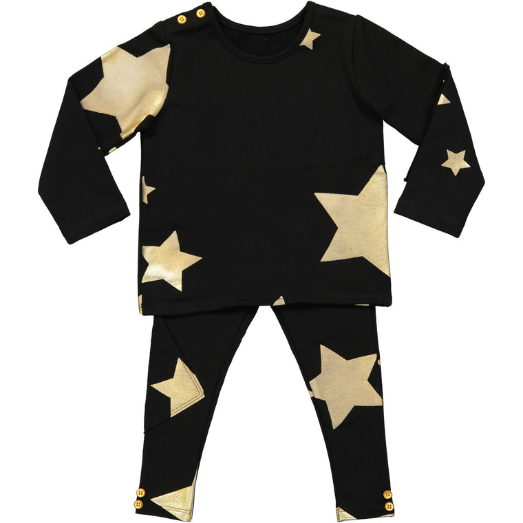 Teela Black/Gold Baby Star Set