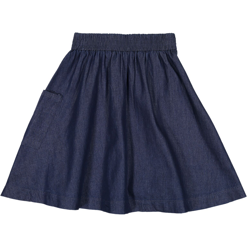 Teela Dark Denim Pocket Skirt