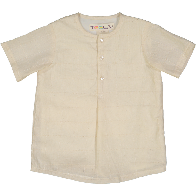 Teela Ivory Pleat Stitch Shirt
