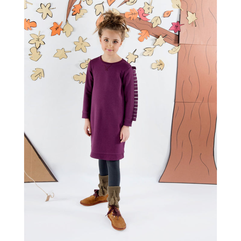 Teela Plum Lily Basic Tab Dress