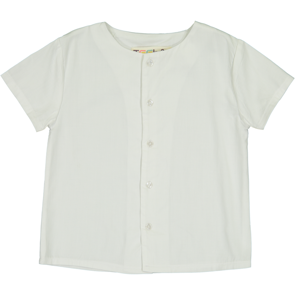 Teela White Solid Shirt