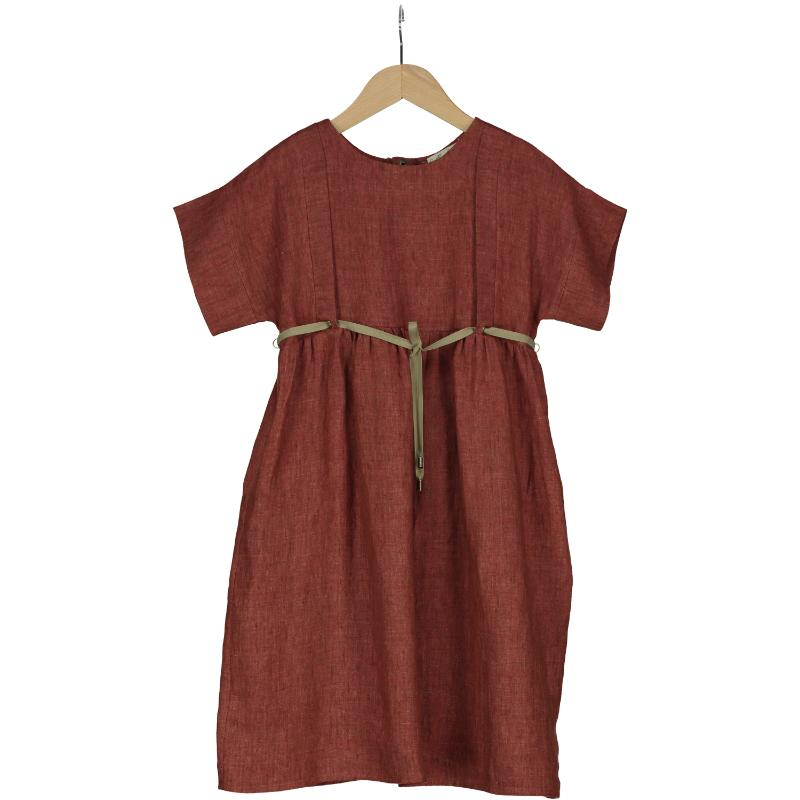 Belle Chiara Vivaldi Russet Linen Dress