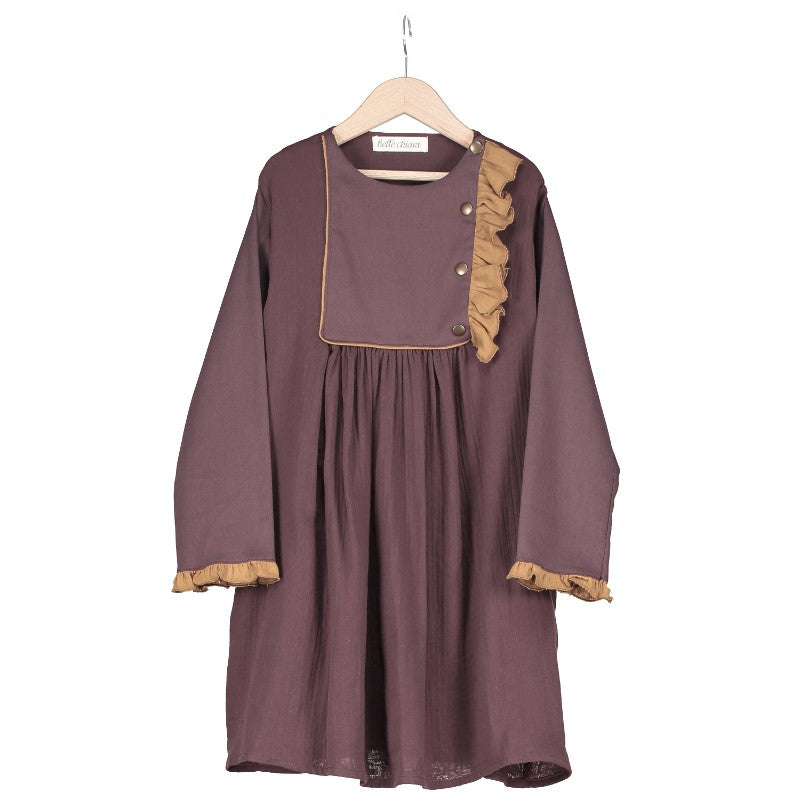 Belle Chiara Aubergine Boceto Dress