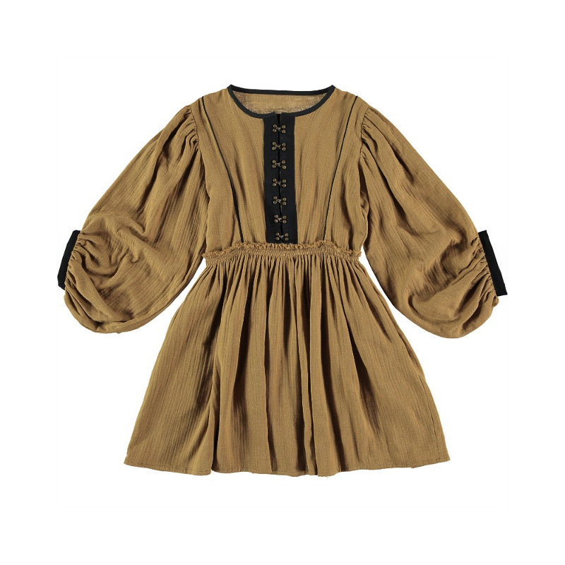Belle Chiara Gold Vermeer Dress