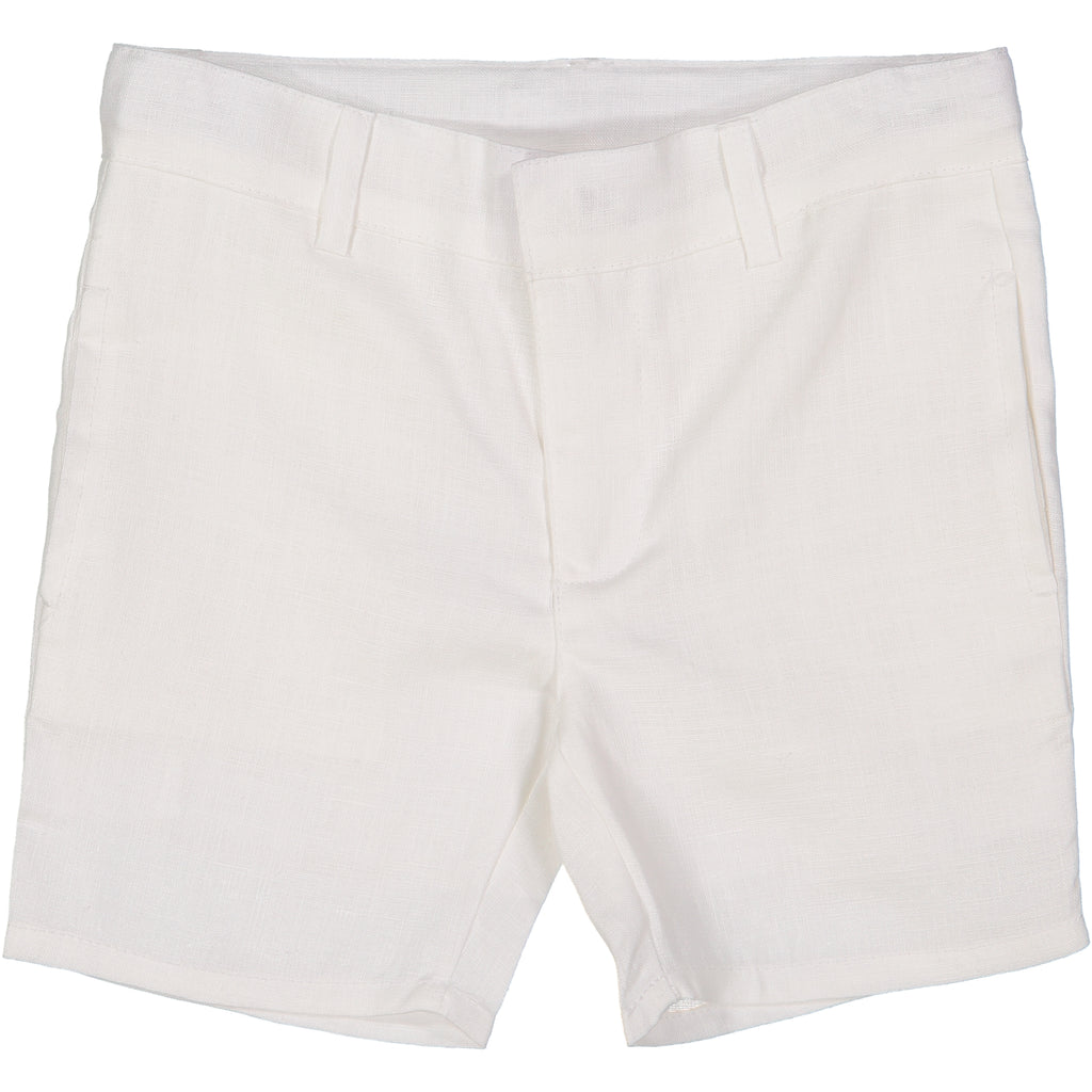 Analogie by Lil Leggs White Linen Shorts