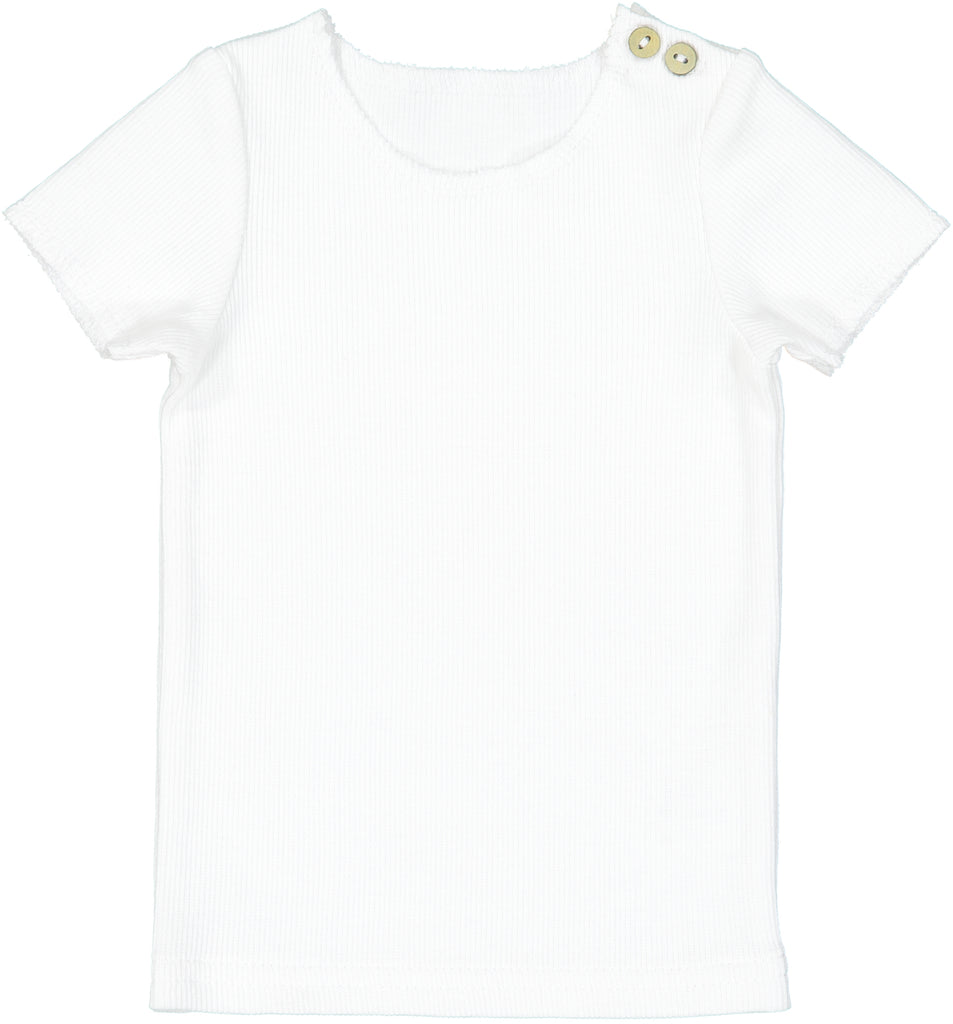 Lil Leggs White Ribbed Tee