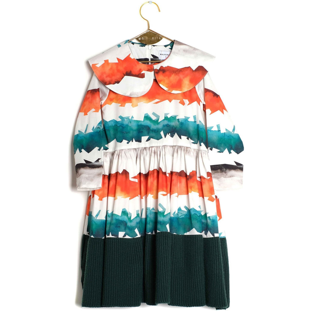 Wolf & Rita Palmira Watercolour Striped Dress