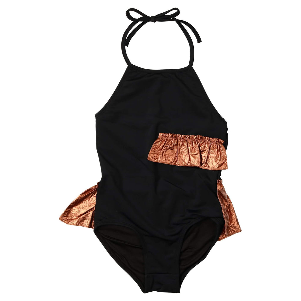 Coco Blanc Black/Rose Gold Halter Swimsuit