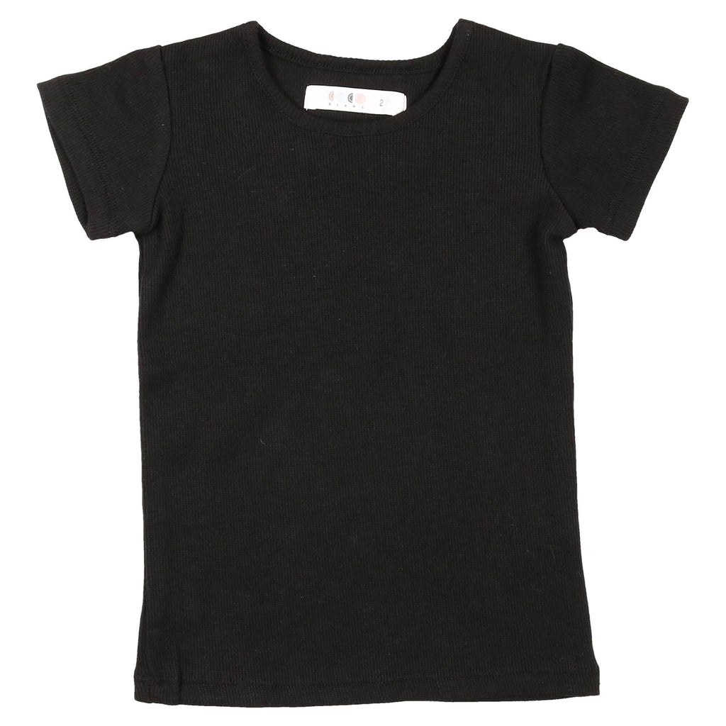 Coco Blanc Black Short Sleeve Crew Tee