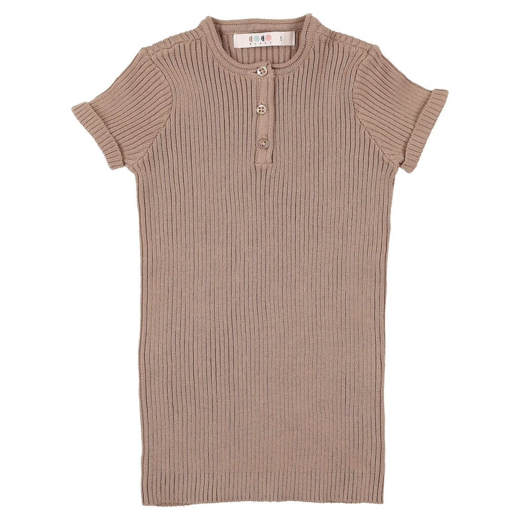 Coco Blanc Taupe Knit Henley