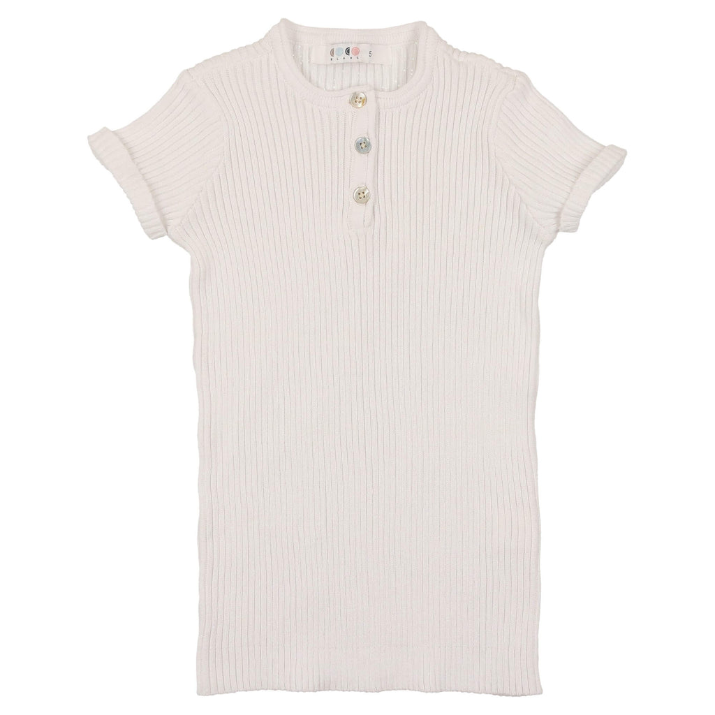 Coco Blanc White Knit Henley