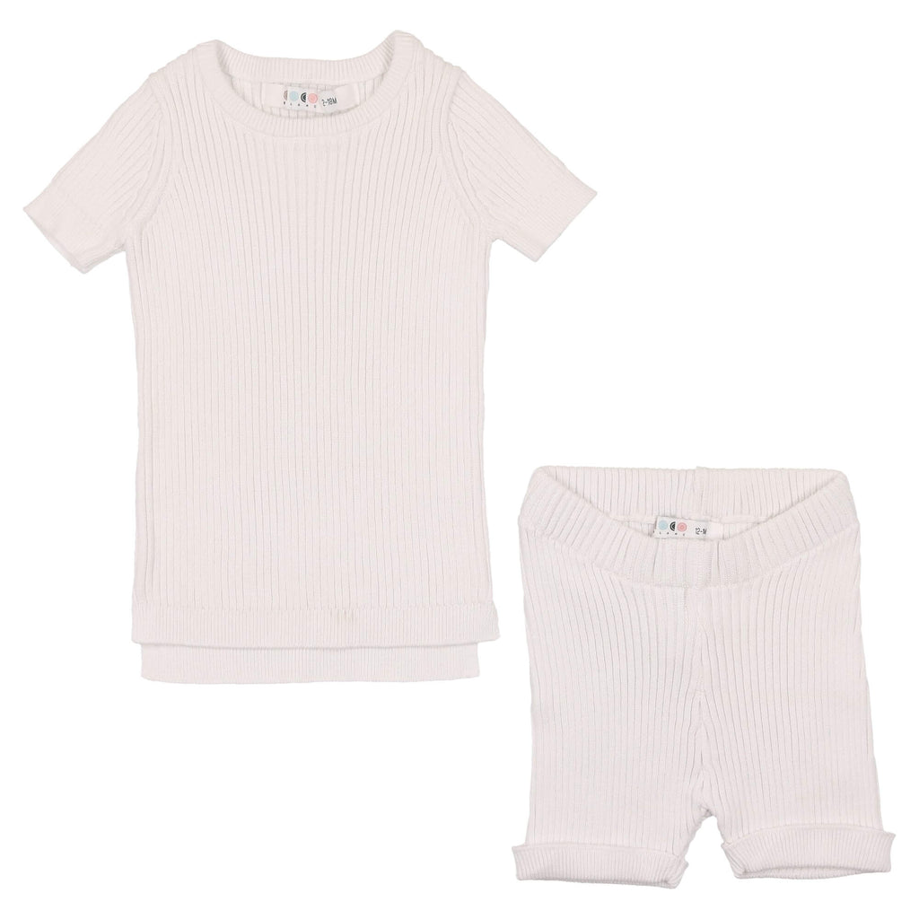 Coco Blanc White Baby Knit Set