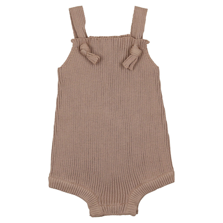 Coco Blanc Taupe Ribbed Romper