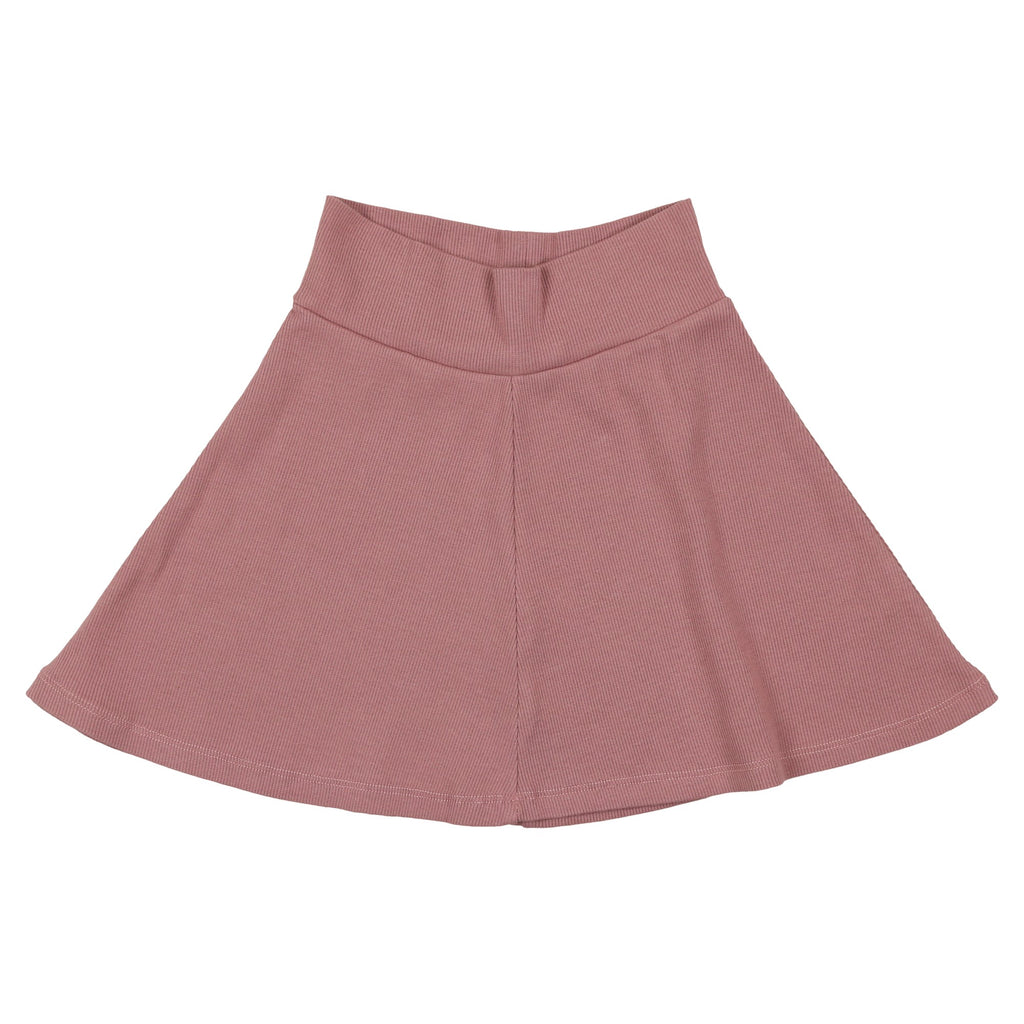 Coco Blanc Deep Rose Ribbed Skirt