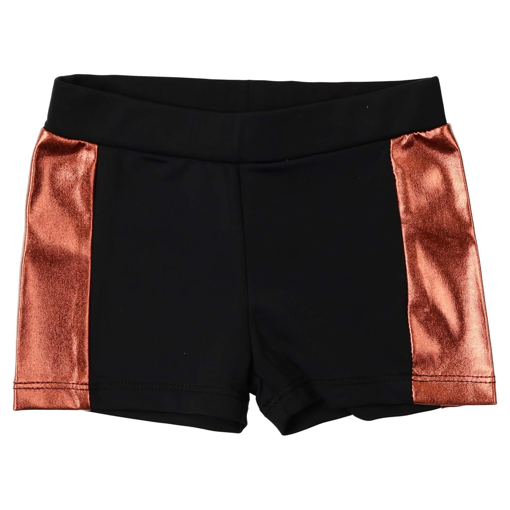 Coco Blanc Black/Rose Gold Tight Swim Trunk