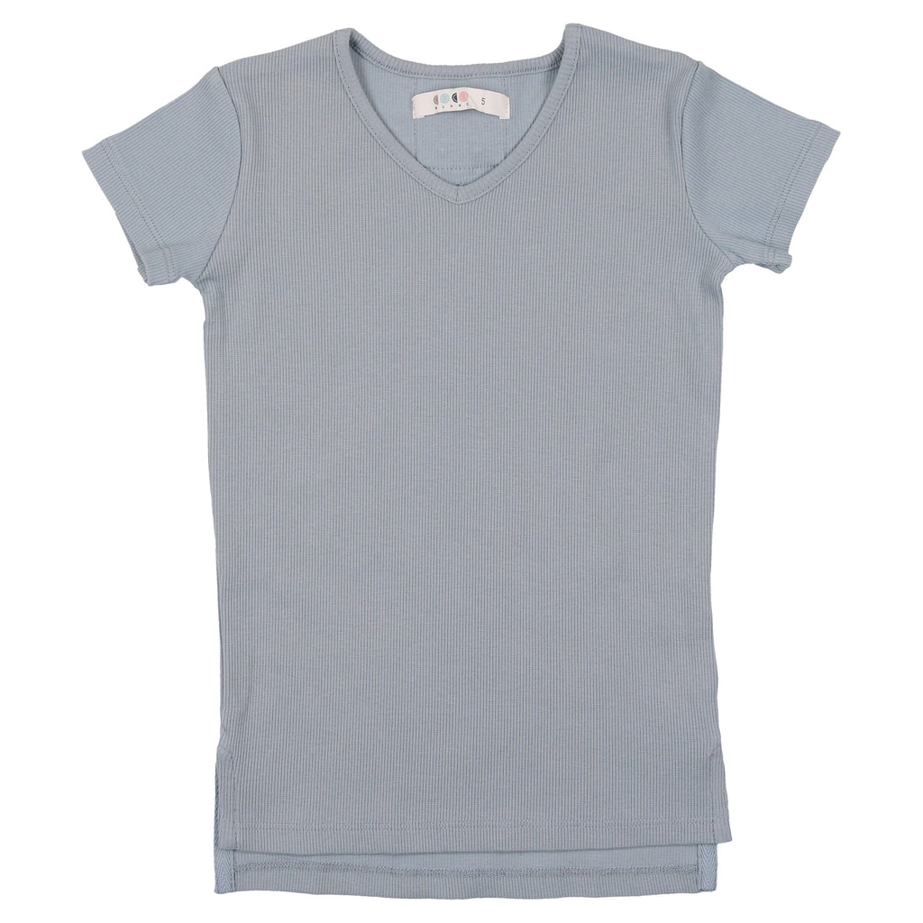 Coco Blanc Ice Blue V-Neck Tee