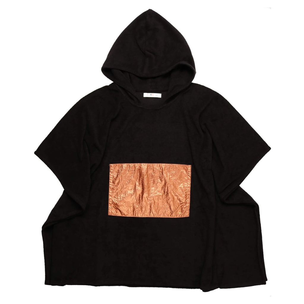 Coco Blanc Black/Rose Gold Boys Terry Poncho