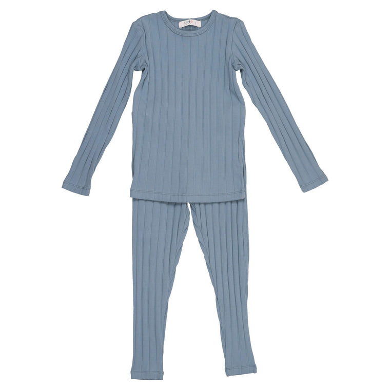 Coco Blanc Ice Blue Wide Ribbed Pajama
