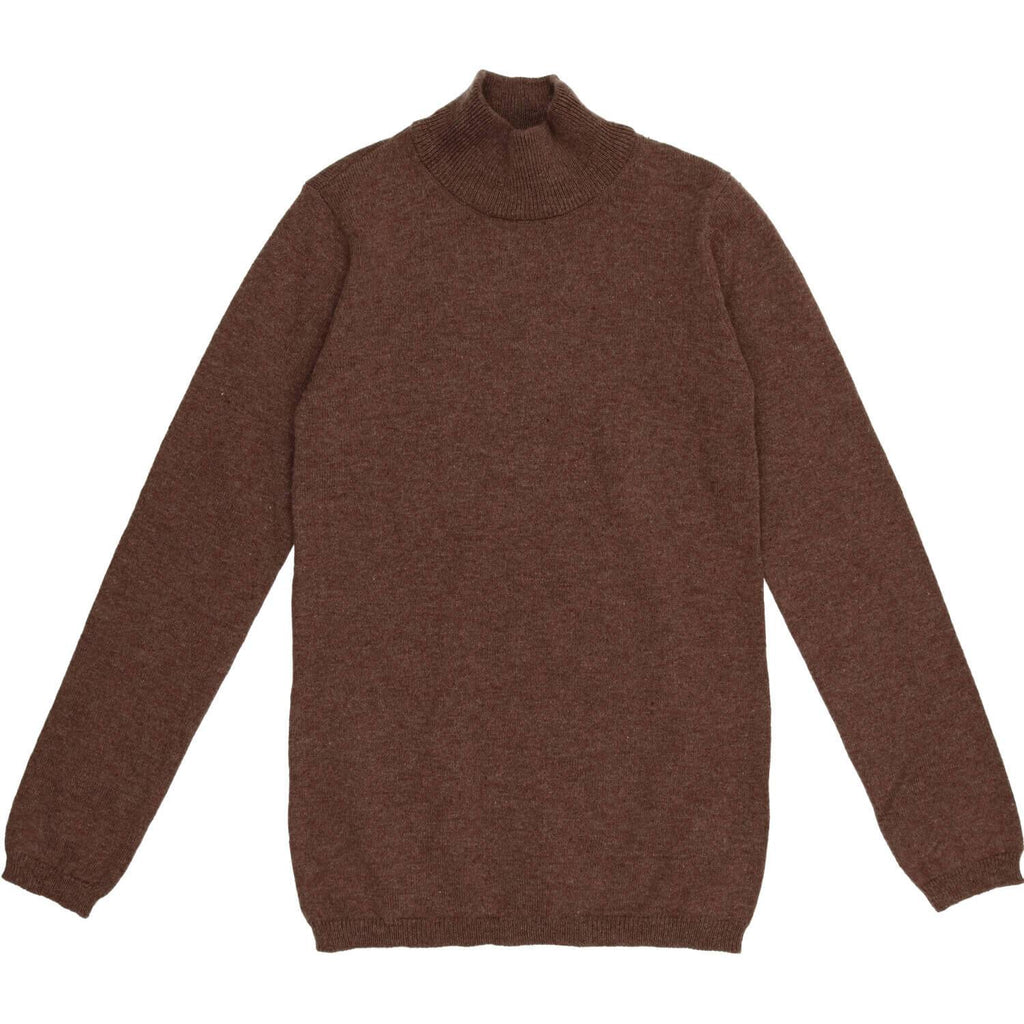 Coco Blanc Mocha Heather Turtleneck Sweater