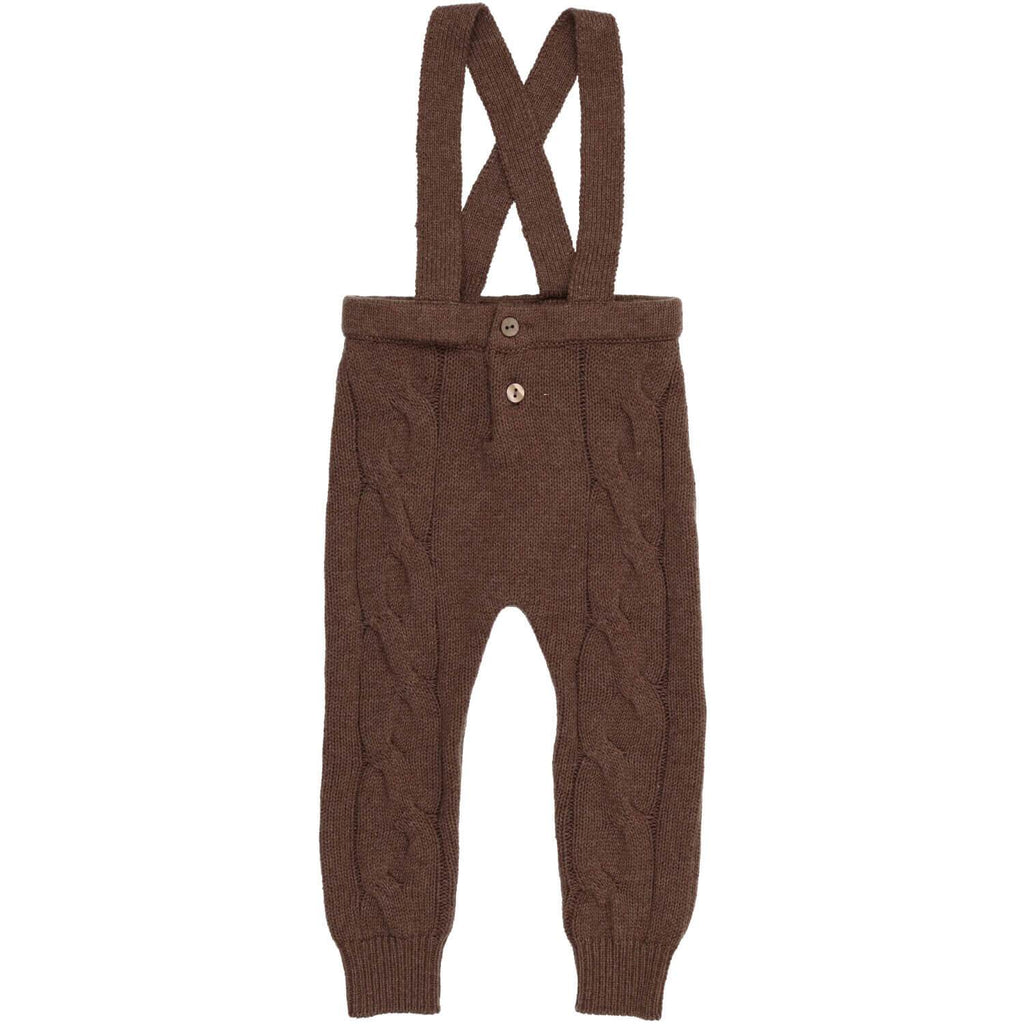 Coco Blanc Mocha Heather Cabled Long Romper