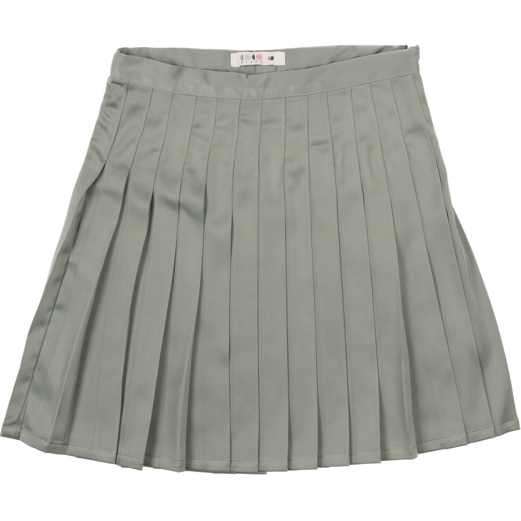 Coco Blanc Sage Blue Pleated Skirt