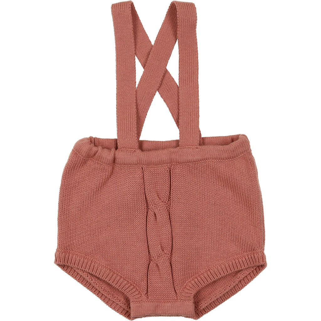 Coco Blanc Dusty Sand Cabled Short Romper