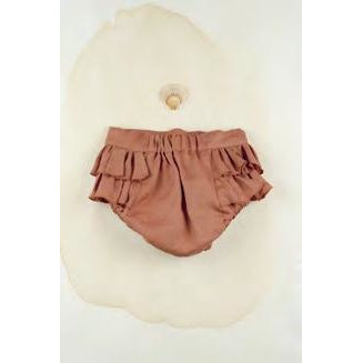 Popelin Terracotta culotte with frills